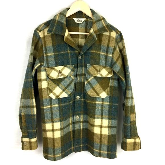 cfd9d6b10de15 Woolrich Jackets & Coats | Vintage Wool Plaid Hunting Jacket Men Sm ...